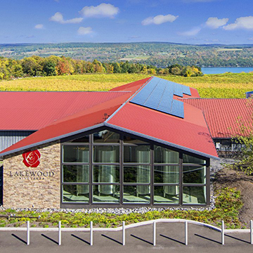 Lakewood Vineyards Tasting and Tank Room