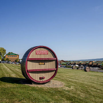Glenora Wine Cellars Large Barrel`