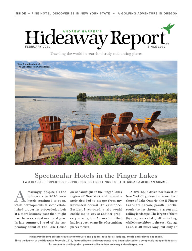 Front cover of the February 2021 Hideaway Report